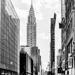 New York Street in bw